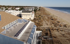 Aerial view of roof top of Atlantic View Hotel in Dewey Beach, Delaware