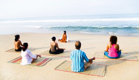 Enjoy A Yoga Lesson On The Beach